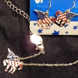 UNICORN NECKLACE AND EAR RINGS SET  8 SETS IN BAGS
